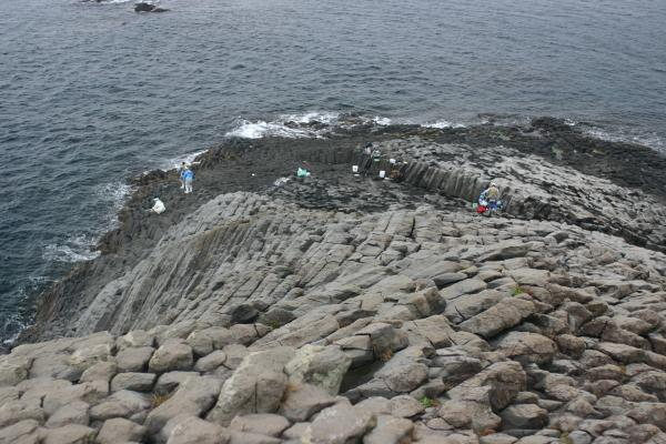 柱状節理の海岸