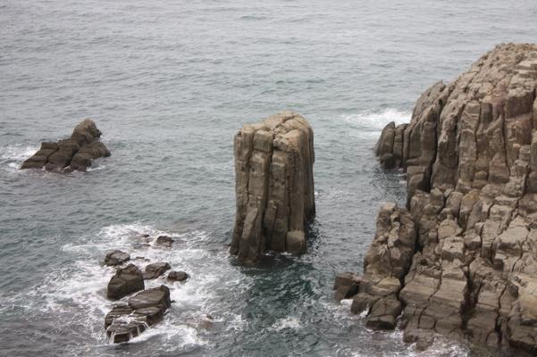 東尋坊の岩群