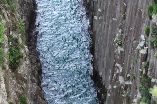 春の日豊海岸「柱状節理の岩群」